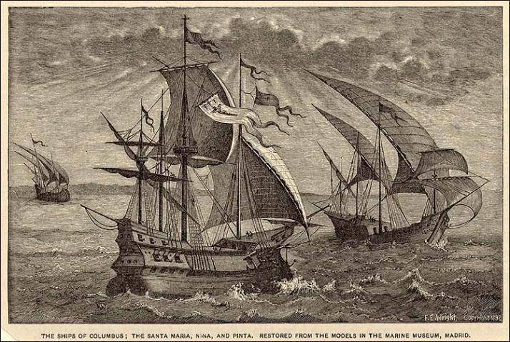 From History.org The Niña, The Pinta, and The Santa Maria