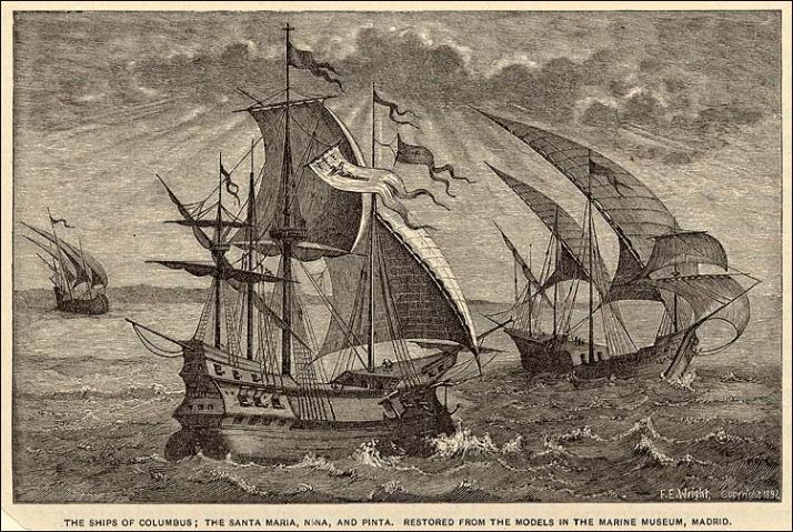 From History.org The Niña, The Pinta, and The Santa Maria